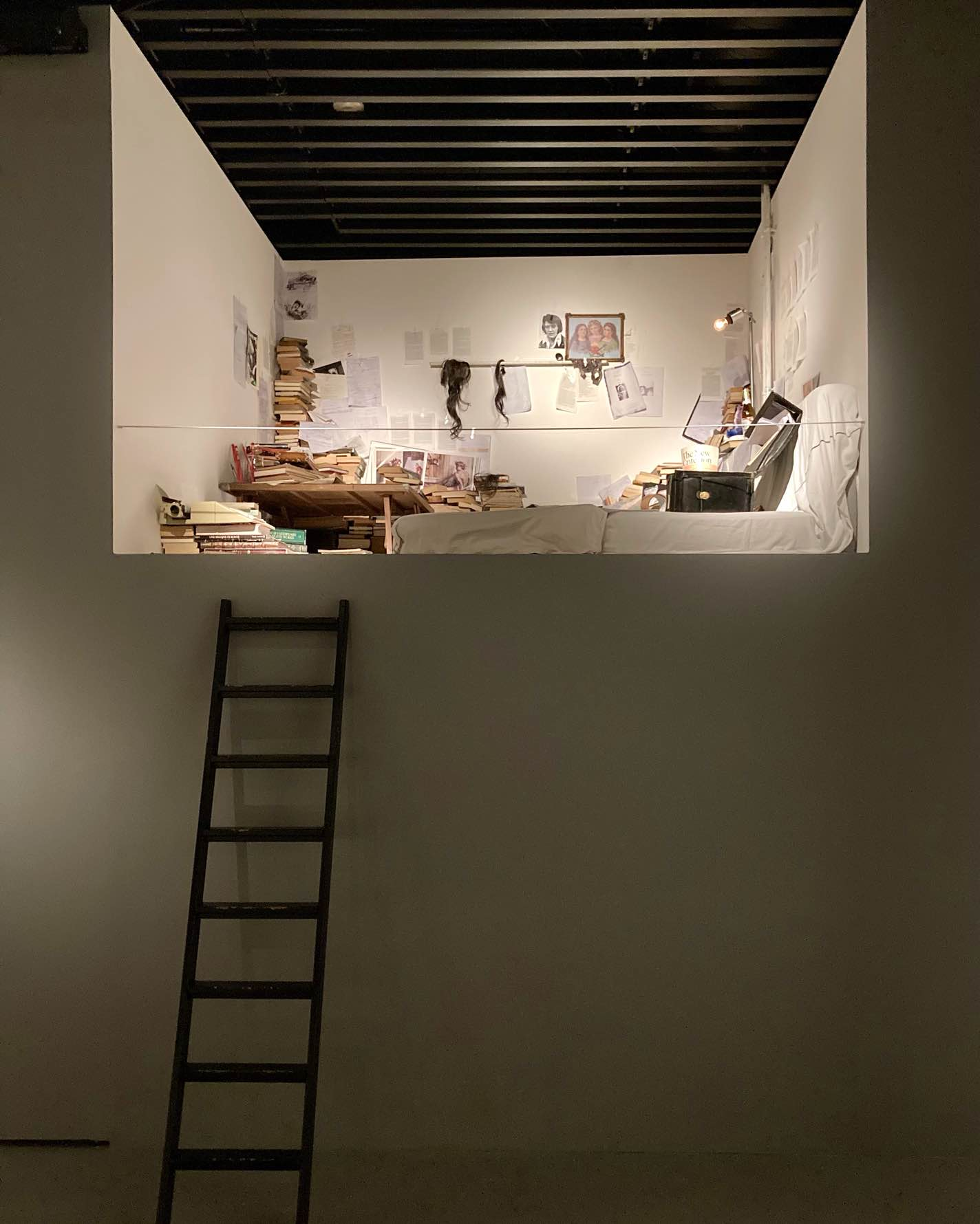 Nick Cave's Berlin loft recreated for the Stranger Than Kindness exhibition at the Black Diamond in Copenhagen.