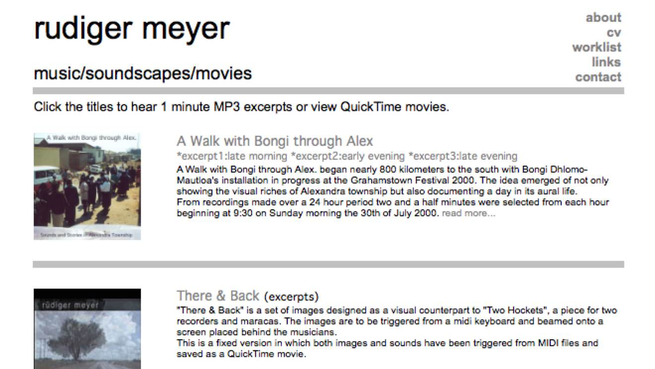 rudigermeyer.com in 2004 – screenshot
