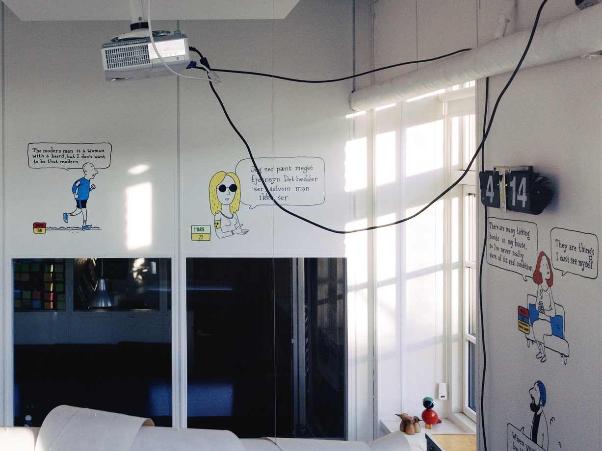 """The interior of the 'Is It a Bird– Insights for better decision making' office. I was going to follow their Instagram but when I read that they were a """"strategic innovation agency turning human understanding into new business opportunities"""" I decided not to. When are we going to turn business understanding into human opportunities?"""
