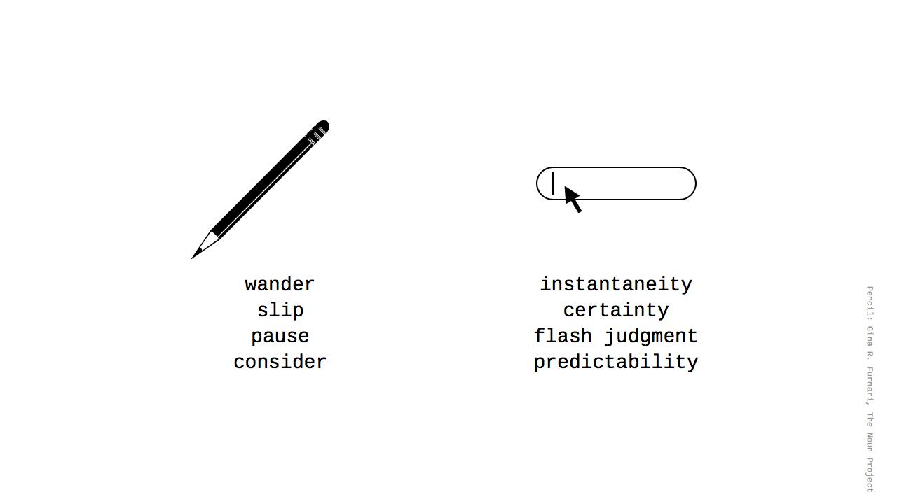 pencil vs. code